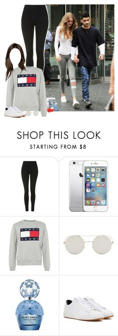 """Day with Gigi and Zayn"" by fxrever-isnt-for-everyone ❤ liked on Polyvore featuring Topshop, Tommy Hilfiger, Marc Jacobs, Eos, NIKE, zaynmalik and gigihadid"
