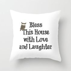 Bless This House Throw Pillow by  Alexia Miles photography