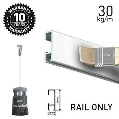 Artiteq Click Rail Picture & art hanging DIY solutions in the UK. Hanging Rail, Hanging Wire, Picture Rail, Simple Pictures, Wall Plug, Hanging Pictures, Simple Way, House, Haus