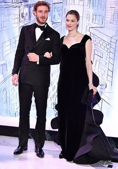 Newmyroyals: RoseBall 2018, Monte Carlo Sporting Club, March 24, 2018-Pierre and Beatrice Casiraghi, who are expecting their second child this year