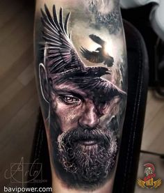 Viking Raven Tattoo  Viking symbols have been a great source of inspiration for people these days. They consist of many meaningful symbols that have stood the test of time to present to the future generation like us today. One of the most important and sacred Viking symbols is raven. Raven tattoo has also become an upward trend these days.  #viking #norse #scandinavian #celtic #bavipower #warrior #tattoo #mythology #raven