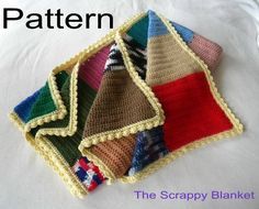 PDF Pattern Crocheted The Scrappy Blanket by CatsSoftStitches, $5.00