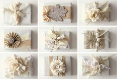 elegant-fabric-and-flowers-creative-Christmas-gift-wrapping-ideas-