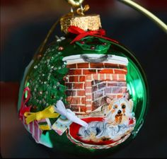 Hand+Painted+Christmas+Ornament+with+a+by+reneesprettypainted,+$19.95