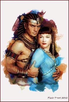 The Ten Commandments - Rameses and Nefretiri