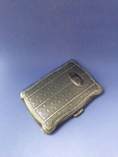 Antik Silber Zigarettenetui Silver Plated von JellyMould auf Etsy
