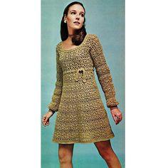 Vintage crochet pattern  - Empire Dress