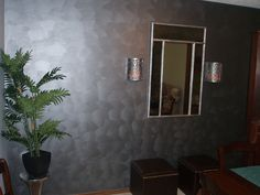 Wall treatment, with Metallic paint