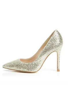 Badgley Mischka 'Daisy ' Embellished Pointy Toe Pump Platino Glitter Fabric Padded footbed Textile upper/synthetic lining/leather sole kbm 19295