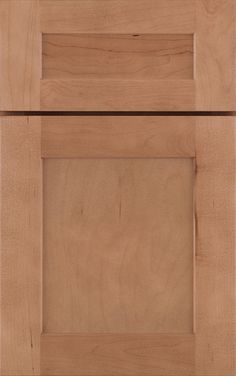 A modified full overlay door style featuring veneer square flat center panel doors and a choice of solid slab or 5-piece drawer fronts. Available in Cherry, Hickory, Maple, Oak and Rustic Hickory.
