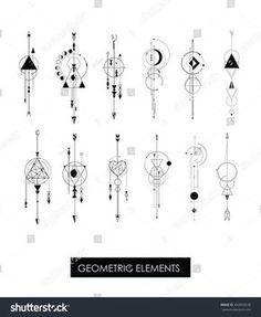 nice Geometric Tattoo - Pack of high quality geometric elements. Sacred geometry.