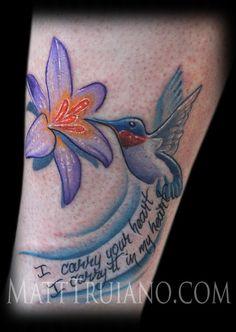 Humming bird tatts