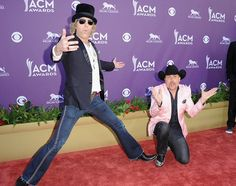 Big Kenny and John Rich, also known as Big and Rich, clowned around on the red carpet...