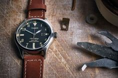 Timex and Red Wing have teamed up on a new edition Waterbury watch, featuring three new models fitted with leather straps cut from the American bootmaker's famous rust-coloured leather.