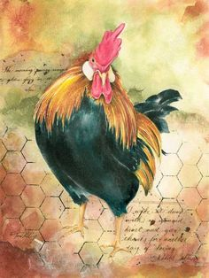 A Winged Heart Rooster by tonikelly on Etsy