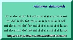 Rihanna diamonds (full) - Flauta dulce notas - Partitura - Recorder - Score