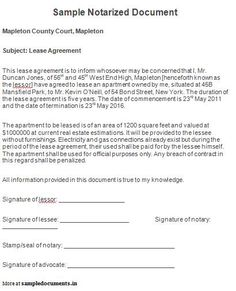 Sample Legal Document   Legal Documents   Pinterest