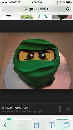 Green ninja cake