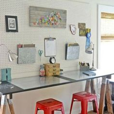 Create a budget-friendly homemade homework station with these small-space desk ideas from Hometalk Bloggers.