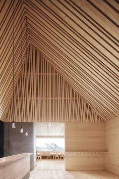 Gallery of Ski Lodge Wolf / Bernardo Bader Architects - 3 Scandinavian Architecture, Timber Architecture, Architecture Details, Chalet Design, House Design, Design Design, Interior Barn Doors, Interior And Exterior, Barn Loft Apartment