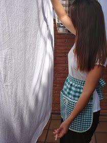 ":: ENTRE TELAS ::: DELANTAL ""CON PINZA"" Skirts, Fashion, Scrappy Quilts, Aprons Vintage, Topcoat, Fabrics, Apron, Moda, Skirt"