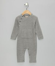 Take a look at this Gray Merino Wool Playsuit - Infant by Mole - Little Norway on #zulily today!