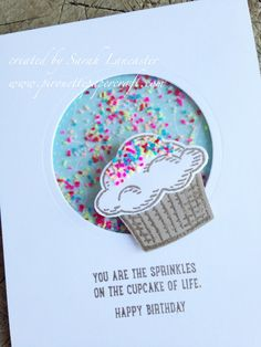 sprinkles of life stampin up | cupcake shaker card | pirouette paper craft