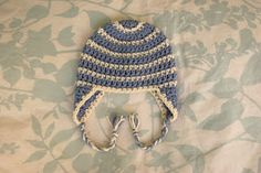 Alli Crafts: Free Pattern: Thick and Thin Striped Beanie Newborn Earflap Modification