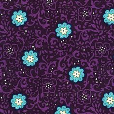 Ring Around Plum Flower Teal