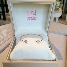 A delicate bangle for everyday wear! #LauraPearceLTD #bracelet #gold #diamonds