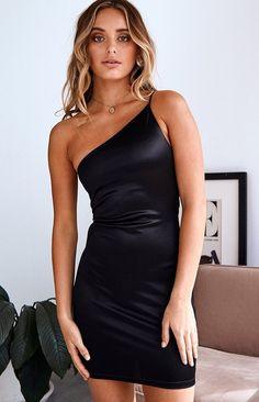 Women's New Arrivals - Shop Online - Beginning Boutique Kenzi One Shoulder Dress Black Hoco Dresses, Tight Dresses, Mini Dresses, Prom Gowns, Dress And Heels, The Dress, Black Dress Outfits, Dress Black, Black One Shoulder Dress