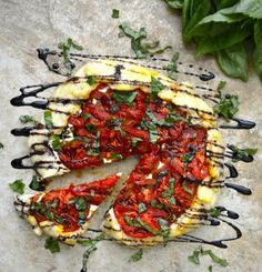 Caprese Galette with Balsamic Vinegar Reduction (can be made gluten free)