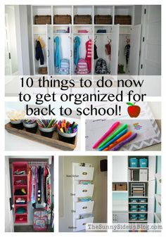 10 things to do now to get organized for back to school! - The Sunny Side Up Blog