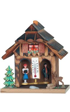 Pinnacle Peak Trading Company German Weather House with Wooden Couple Thermometer Made in Germany Weatherhouse Weather Instruments, Williams Street, Master Bedroom Closet, Buy Birds, Black Forest, Made Of Wood, Bird Houses, Outdoor Decor, Germany