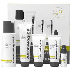 Dermalogica MediBac Clearing Adult Acne Kit-products that are ideal for oily skin types with adult acne. #SkinCare #acne