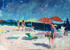 Figurative Seascape wall candy seashore by modernimpressionist