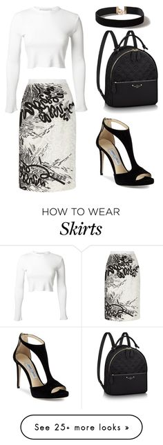 """Black and White"" by jules16280 on Polyvore featuring Oscar de la Renta, Rosetta Getty, Jimmy Choo and Dorothy Perkins"