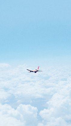 Flight Sky Plane Cloud Nature #iPhone #5s #wallpaper
