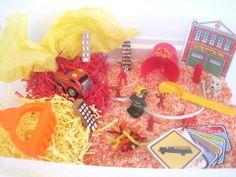 Fire Fighter / Fire Safety Sensory Bin  Montessori by dapperhouse, $20.00
