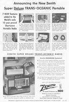 Zenith Super Deluxe Trans-Oceanic 1954 Ad Picture