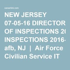 New Jersey 07 05 16 Director Of Inspections 2016 07 05 Mcguire Afb Nj Air Force Civilian Service It Specialist Job Posting Job Search Instructional Design