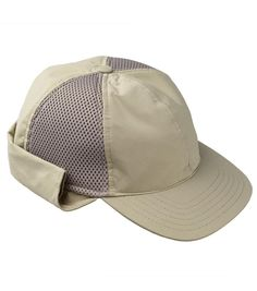 2b32e7bd97e This cap offers a nylon cape for sun protection and a firm peak