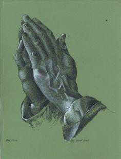 Albrecht Dürer - Praying hands #durerstudy #albrechtdurer #prayinghands #ink