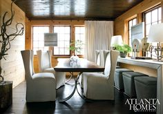 A fantastic dining space...... note left edge of dining table...& legs....susan ferrier