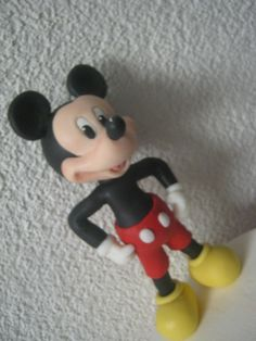 1° Parte Mickey Mouse ( Cake Topper ) Topo do Bolo - Biscuit / Porcelana...