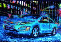 Neon Chevrolet Volt: Using Cars to Paint a Car  Guest post by me at Cool Gizmo Toys.