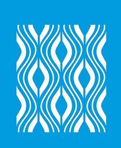 21cm x 17cm Pochoir Réutilisable en Plastique Transparent Souple Trace Gabarit Traçage Illustration Conception Murs Toile Tissu Meubles Décoration Aérographe Airbrush - Motif Abstrait