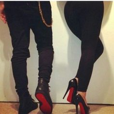 Christian Louboutin couple