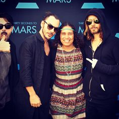 Me and 30 Seconds to Mars!!! Love them<---cool