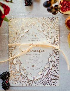 Featured Photographer: Amanda Megan Miller; Wedding invitation idea